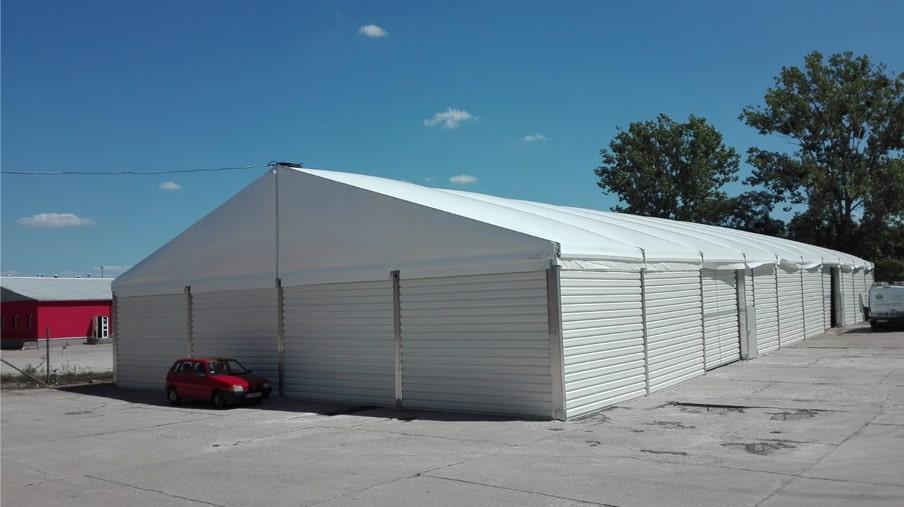 Konfigurowalna hala namiotowa przemysłowa lub magazynowa