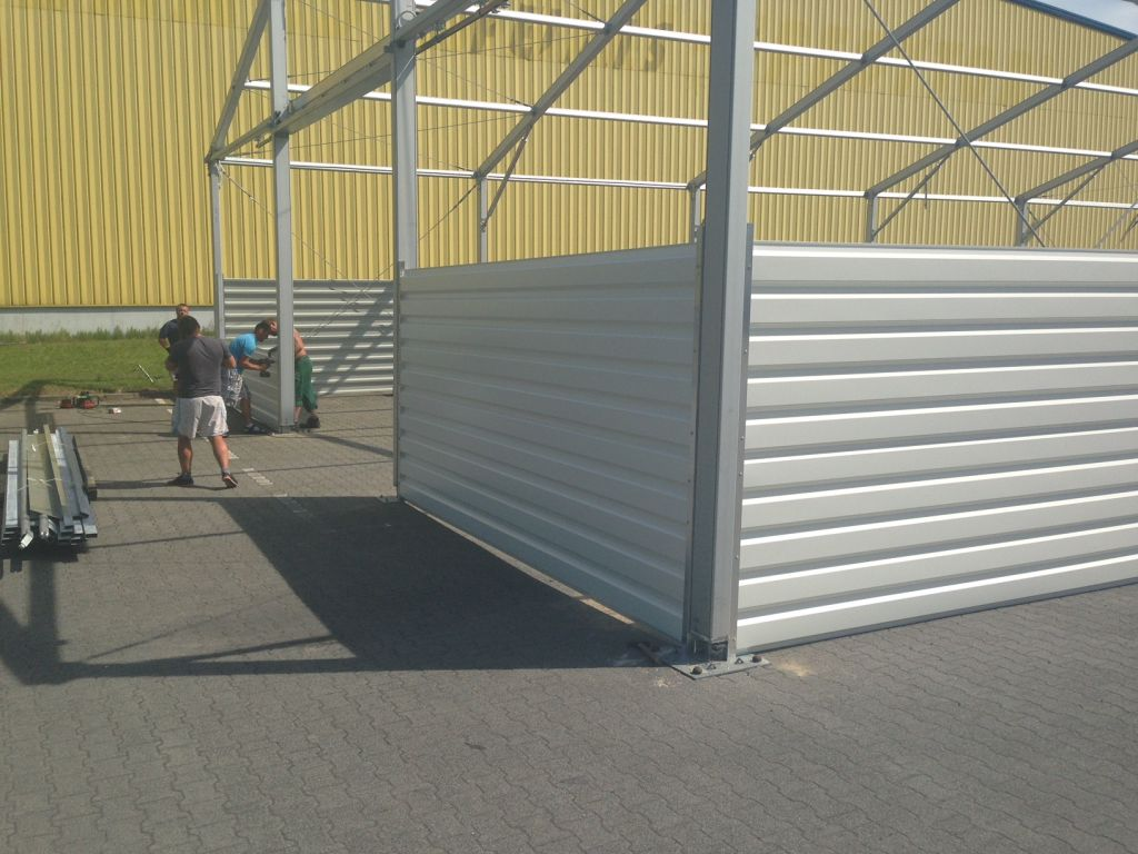 konstrukcja wynajmowanej hali namiotowej