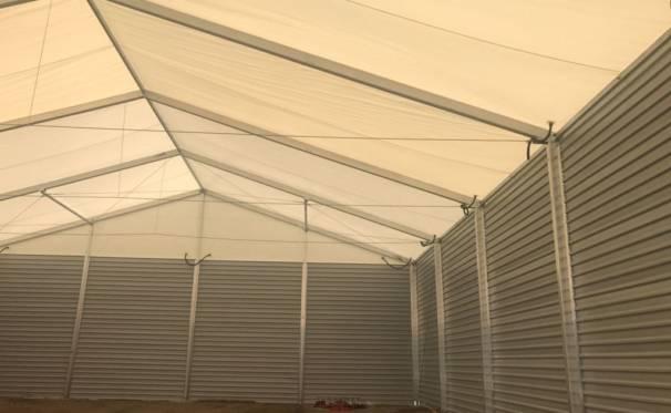 hala namiotowa używana - wnętrze